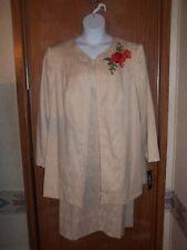 NWT~ISABELLA WOMEN'S EMBELLISHED FORMAL WEAR DRESS SUIT~SIZE 20W~CREAM~$99.99