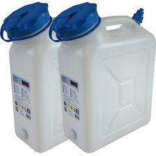 2x Weithals-Kanister 10 Liter PRO 2er Set Lebensmittelkanister Wasserkanister L