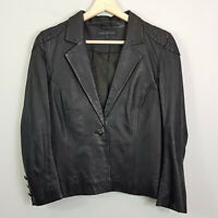 FOREVER NEW | Womens Black Leather Jacket  [ Size AU 8 or US 4 ]