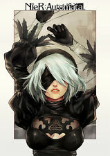 POSTER NIER: AUTOMATA NIER ANDROID YORHA 2B 9S A2 ROBOT GAME GIOCO PS4 FOTO #30
