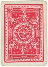 Playing Card 1 Swap Card Old Antique Wide BICYCLE TYRE Man Riding Bike Cycling 1