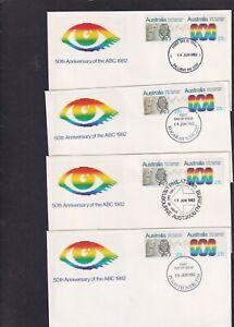 Australia 1982 Australian Broadcasting Corporation radio TV FDC choice postmarks