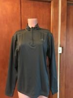 Paradox Women's 1/4 Zip Gray high Neck Top Long Sleeve Athletic Jacket Sz L