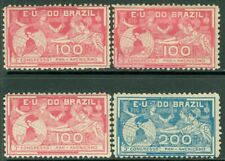 EDW1949SELL : BRAZIL 1906 Scott #172(3x) Mint OG, #173 Mint No Gum. Catalog $165