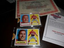 1957 Topps Archives 1994 Topps Vault 2 Card Proof Set Leo Nomellini 49ers MINT