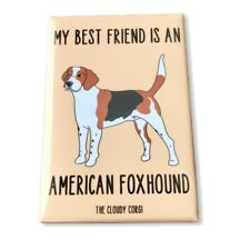 American Foxhound Dog Magnet Handmade Best Friend Gifts and Home Decor