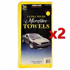 72 Kirkland Signature Ultra Soft Plush Microfibre car Towels Cloths 40cm x 40cm
