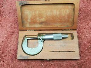 "Vintage Mitutoyo 103-260 Micrometer, 0-1"" Range, 0.0001"" Graduation"
