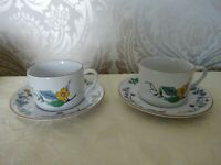 Woodhill China Morrisons Set of 2 Cups & Saucers