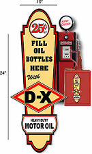 """24"""" X 10"""" DX DIAMOND OIL SIGN LUBSTER FRONT DECAL OIL CAN GAS PUMP GASOLINE"""