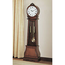 Brown Tall Grandfather Clock Home Living Room Furniture Decor