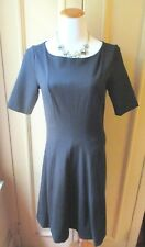 NWT! GORGEOUS CARMEN MARC VALVO BLACK FIT AND FLARE DRESS SIZE - S