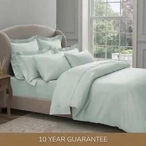 Dorma 300 Thread Count 100% Cotton Sateen Plain Duvet Cover - Seafoam