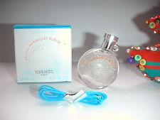 NOUVELLE  miniature EAU DES MERVEILLES  BLEUE de  HERMES  pleine + boite  NEUVE