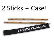2 Filipino Escrima Kali Arnis burned Rattan Stick Doce Pares Taekwondo karate