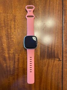 Fitbit Versa 3 Smartwatch with GPS - Pink Clay/Soft Gold- WATCH & BAND ONLY