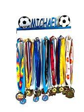 Custom Personalized Name Medal Holder Soccer Ball Award Wall Display Hook Hanger