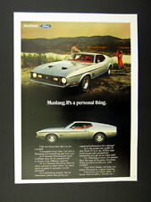 1971 Ford Mustang Mach 1 silver car color photo vintage print Ad