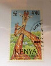 Kenya  SC #493 GIRAFFE  WWF used stamp