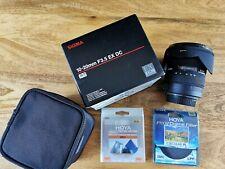 Sigma 10-20mm f3.5 - Canon + 2 x Hoya filter + original packaging