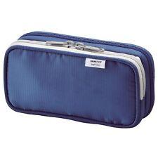 Lihit Lab.Double Pen Case S Blue A7660-8 8.5x17.5x4.5cm from Japan F/S Best Buy