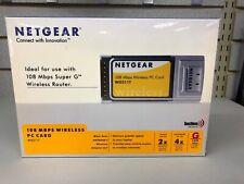 NETGEAR WG511T Wireless PC Card Adapter 2.4ghz 108 Mbps
