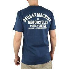 DEUS EX Machina Tokyo Address Mens Top Short Sleeve T Shirt Navy Blue Medium