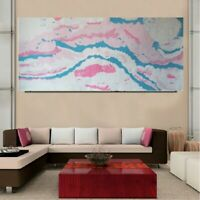 "Over Size Extra Large Canvas 60"" Painting Abstract Home Decor Original Signed"