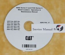 SEBU7458 CAT Caterpillar 966G 972G Wheel Loaders Operation Maintenance Manual CD
