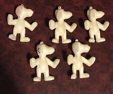 SNOOPY CHARMS LOT OF 5  1970'S PEANUTS  FIGURES