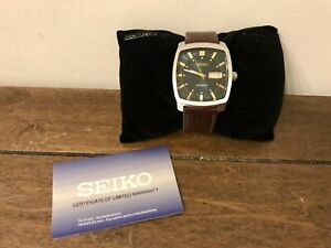 SEIKO ReCraft Automatic Green Dial Brown Leather 39.5mm Men's Watch SNKP27