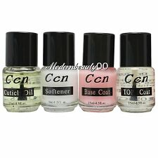 4 PCS Nutrition Softener Base Top Coat for Nail Art polish Acrylic Kit