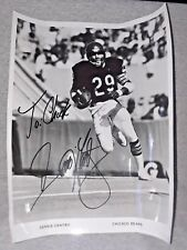 "Dennis Gentry Chicago Bears # 29 Hand Signed Autographed 8x10 B&W ""To Chuck"""