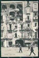 Napoli Città Basso Porto Carretti cartolina VK1024