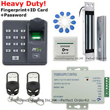 ZKTeco Fingerprint+RFID Card+Password Access Control System+Magnetic Door Lock!
