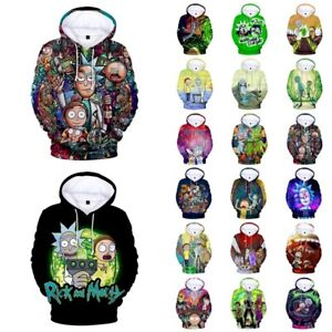 Rick and Morty 3D Unisex Mens And Womens Hoodie Pullover Sweatshirt Top Gift AU