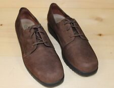 Women's Rockport Walking Shoes Brown Suede Leather Oxford Size 7M