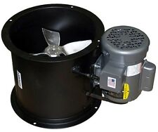 """Spray Booth Fan- 18"""" Tube Axial - 3,090 Cfm - (1 Phase Motor) Made in the Usa"""
