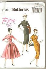 Butterick Pattern B5813 Reissue Retro '56 Slim or Full Skirt, Fitted Dress 6-14