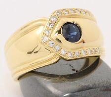 ♦♦♦750 18kt Damen Saphir Diamant Gold Ring Safir Schmuck Saphirring Diamantring