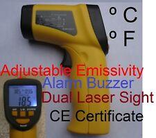IR Thermometer As Pipe Clamp K Thermocouple HVAC Tool Adjustable Emissivity