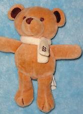 Gymboree Plush Small Tan Brown Teddy Bear B Scarf Stuffed Soy