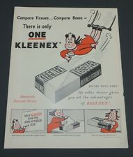 Original 1948 Print Ad KLEENEX Marge Little Lulu Full Page Kimberly-Clark