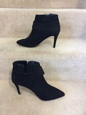 ASOS Black Faux Suede Ankle Boots, Side Buckle, UK Size 4