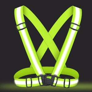 Reflective Strap Traffic Safety Vest Running Gear For Running Cycling Adjustable