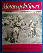 Motorcycle Sport Magazine August 1963,Front Cover Jeff Smith BSA Hawkstone Park