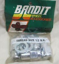 Vintage Bandit SHORT Mag Wheel Lug Nuts 1/2 R.H.6804 Chevy,Ford,Mopar,AMC NOS