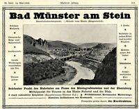 Bad Münster am Stein Reklame 1906 Nahetal Werbung Rhein