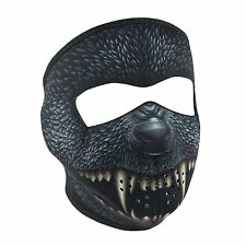 Silver Bullet Black Werewolf Neoprene Full Face Mask Biker Reversible To Black