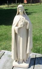 "Vintage Statue Plaster St Therese of Liseaux Sancta Teresa  15.94"""